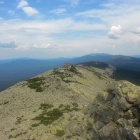 Вид на север каскада Нургуш-4 (1197м-1267м-1196м) и хребет Нургуш
