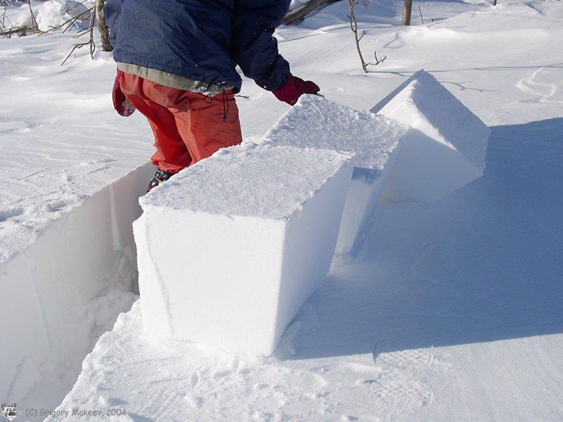 Как сделать блоки снега