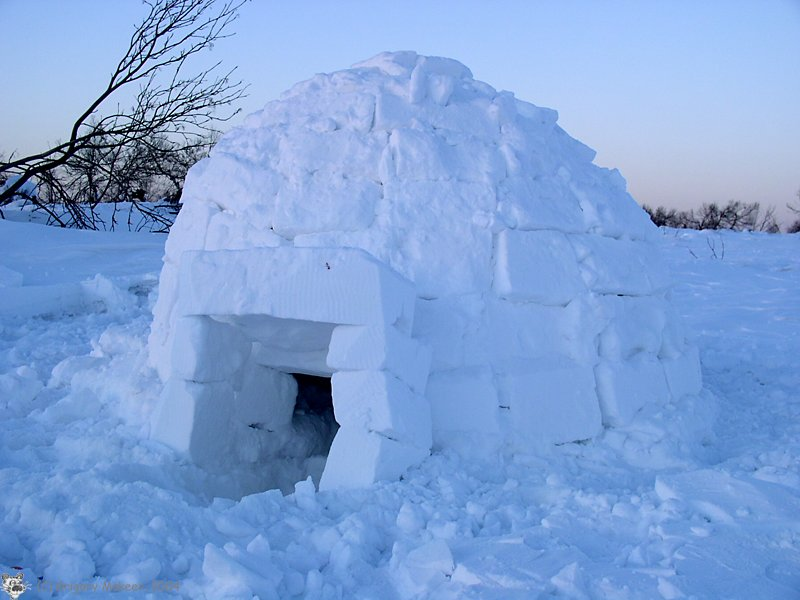 Дом из снега фото