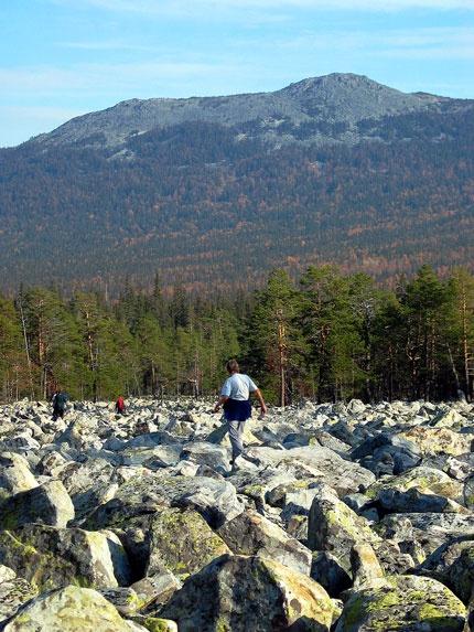 Гора 1317 (хр. Кумардак) с курума в Долине Юрюзани