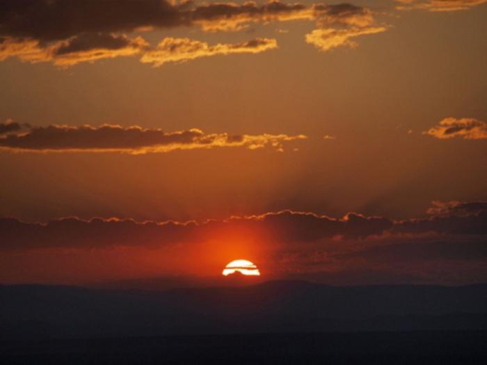 Закат над горой Караташ