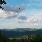 Вид со скал над долиной ручья Малый Казамаш в сторону Сплавного и Черного Плеса