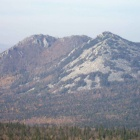 гора Двуглавая, фото с склонов Монблана