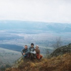C вершины Арвяка - вид на хребет Акбиик и деревню Шигаево