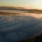 Рассвет, Айгир, туман, осень...