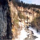 Вид реки Сим из Игнатьевской пещеры